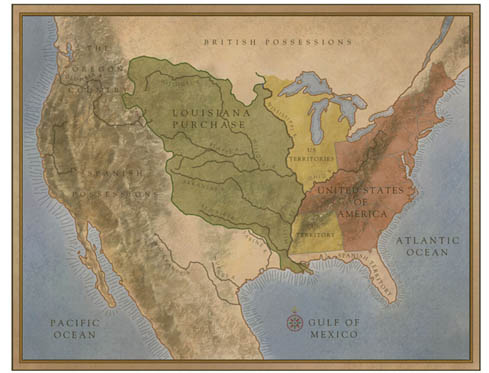 Map of Louisiana Purchase