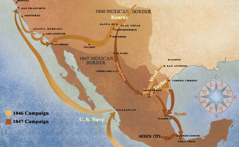 Mexican American War Lessons Tes Teach - Us-map-before-mexican-american-war
